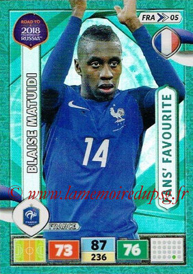 2018 - Panini Road to FIFA World Cup Russia Adrenalyn XL - N° FRA05 - Blaide MATUIDI (France) (Fans' Favourite)