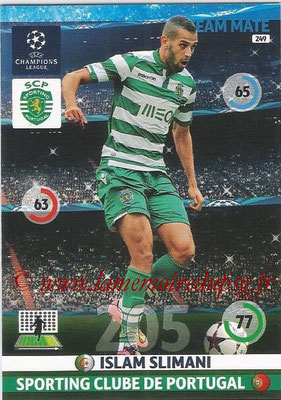 2014-15 - Adrenalyn XL champions League N° 249 - Islam SLIMANI (Sporting Club de Portugal)