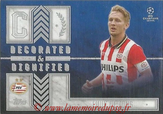 2015-16 - Topps UEFA Champions League Showcase Soccer - N° DD-LD - Luuk DE JONG (PSV Eindhoven) (Decorated and Dignified)