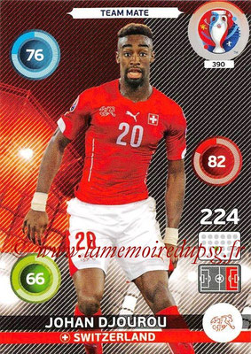 Panini Euro 2016 Cards - N° 390 - Johan DJOUROU (Suisse)