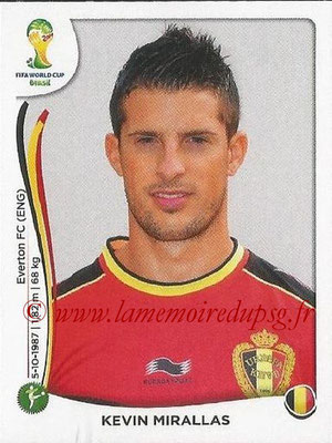 2014 - Panini FIFA World Cup Brazil Stickers - N° 580 - Kevin MIRALLAS (Belgique)