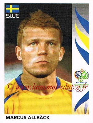 2006 - Panini FIFA World Cup Germany Stickers - N° 165 - Marcus ALLBÄCK (Suède)