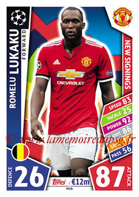2017-18 - Topps UEFA Champions League Match Attax - N° NS06 - Romelu LUKAKU (Manchester United) (New Signings)