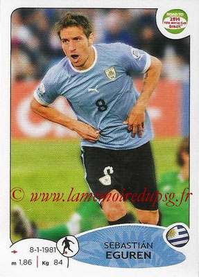 2014 - Panini Road to FIFA World Cup Brazil Stickers - N° 079 - Sebastian EGUREN (Uruguay)
