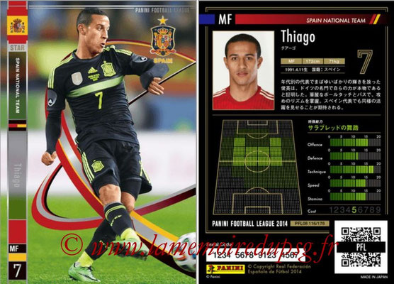 Panini Football League 2014 - PFL08 - N° 116 - THIAGO (Espagne) (Star)