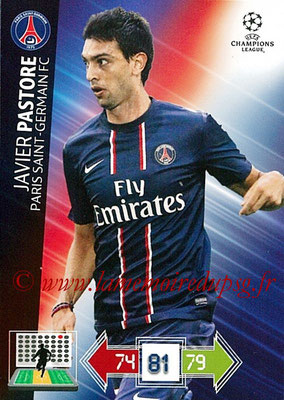 2012-13 - Adrenalyn XL champions League N° 213 - Javier PASTORE (Paris Saint-Germain)