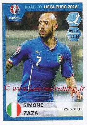 Panini Road to Euro 2016 Stickers - N° 174 - Simone ZAZA (Italie)