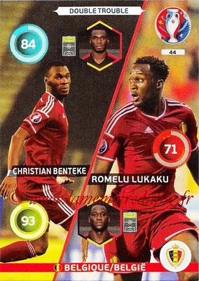 Panini Euro 2016 Cards - N° 044 - Christian BENTEKE + Romelu LUKAKU (Belgique) (Double Trouble)