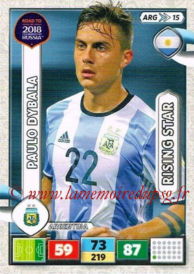 2018 - Panini Road to FIFA World Cup Russia Adrenalyn XL - N° ARG15 - Paulo DYBALA (Argentine) (Rising Star)