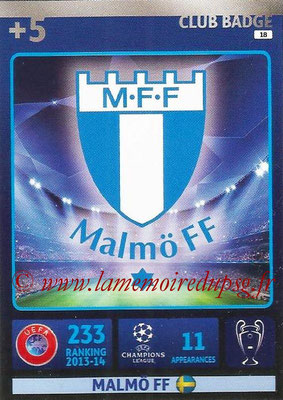 2014-15 - Adrenalyn XL champions League N° 018 - Logo Malmo FF (Club Badge)