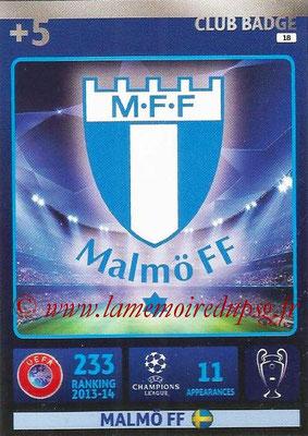 2014-15 - Adrenalyn XL champions League N° 018 - Logo Malmo FF (Club Badge)