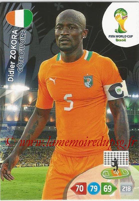 2014 - Panini FIFA World Cup Brazil Adrenalyn XL - N° 099 - Didier ZOKORA (Côte d'Ivoire)