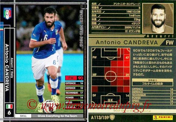 2015-16 - Panini WCCF - N° A113 - Antonio CANDREVA (Italie)