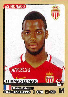 2015-16 - Panini Ligue 1 Stickers - N° 256 - Thomas LEMAR (AS Monaco)