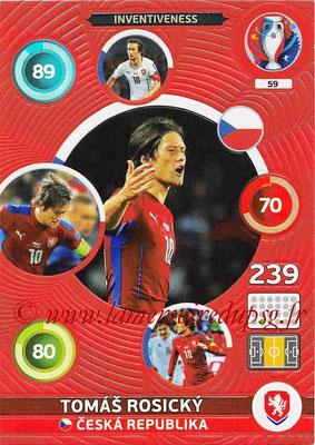 Panini Euro 2016 Cards - N° 059 - Tomas ROSICKY (République Tchèque)(Inventiveness)