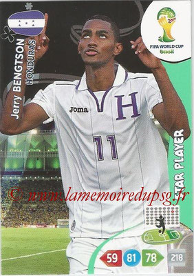 2014 - Panini FIFA World Cup Brazil Adrenalyn XL - N° 192 - Jerry BENGTSON (Honduras) (Star Player)