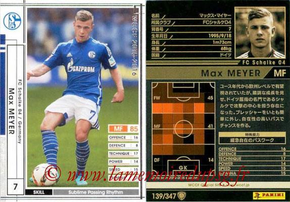 2015-16 - Panini WCCF - N° 139 - Max MEYER (FC Schalke 04)