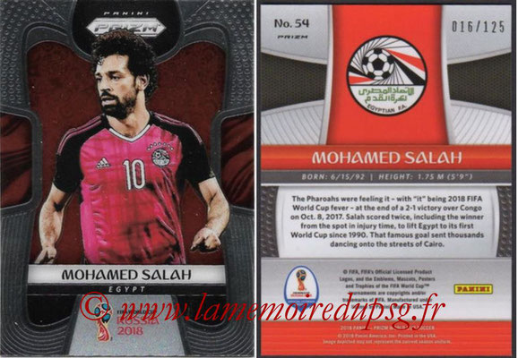 2018 - Panini Prizm FIFA World Cup Russia - N° 054 - Mohamed SALAH (Egypte)