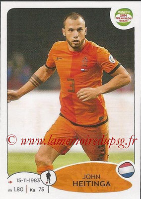 2014 - Panini Road to FIFA World Cup Brazil Stickers - N° 300 - John HEITINGA (Pays-Bas)