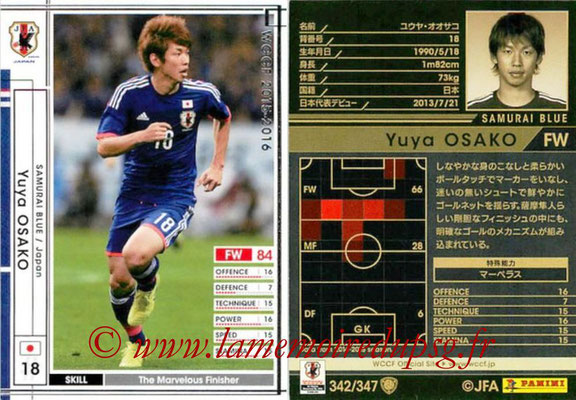 2015-16 - Panini WCCF - N° 342 - Yuya OSAKO (Japon)