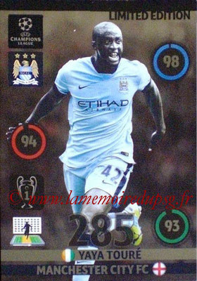 2014-15 - Adrenalyn XL champions League N° LE-YT - Yaya TOURE (Manchester City FC) (Limited Edition)
