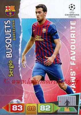 2011-12 - Panini Champions League Cards - N° 298 - Sergio BUSQUETS (FC Barcelone)