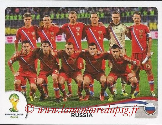 2014 - Panini FIFA World Cup Brazil Stickers - N° 603 - Equipe Russie