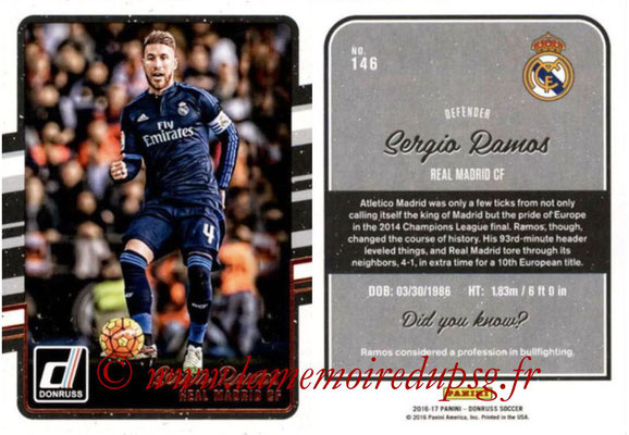 2016 - Panini Donruss Cards - N° 146 - Sergio RAMOS (Real Madrid CF)