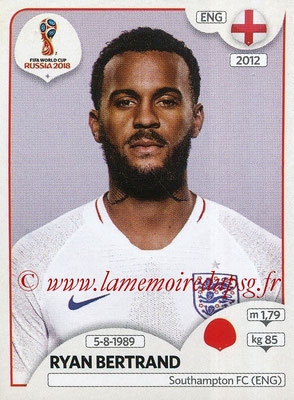 2018 - Panini FIFA World Cup Russia Stickers - N° 579 - Ryan BERTRAND (Angleterre)