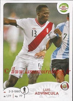 2014 - Panini Road to FIFA World Cup Brazil Stickers - N° 216 - Luis ADVINCULA (Pérou)