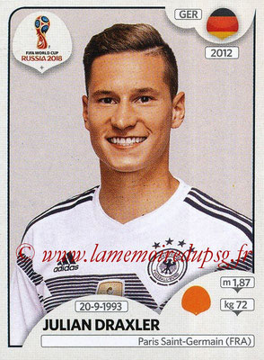 2018 - Panini FIFA World Cup Russia Stickers - N° 440 - Julian DRAXLER (Allemagne)