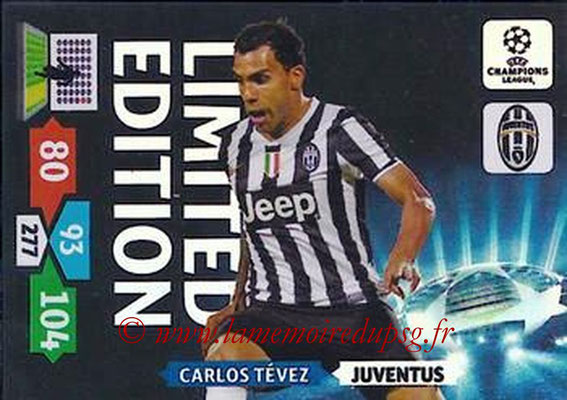 2013-14 - Adrenalyn XL champions League N° LE30 - Carlos TEVEZ (Juventus FC) (Limited Edition)