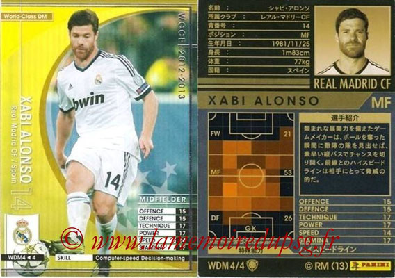 2012-13 - WCCF - N° WDM4 - Xabi ALONSO (Real Madrid CF) (World Class DM)