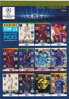 2014-15 - Adrenalyn XL champions League Update edition N° UE128 - Overall Top 11 (Fans' Favourite)