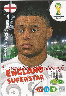 2014 - Panini FIFA World Cup Brazil Adrenalyn XL - N° 138 - Alex OXLADE-CHAMBERLAIN (Angleterre)