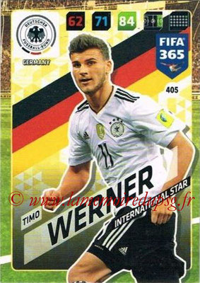 2017-18 - Panini FIFA 365 Cards - N° 405 - Timo WERNER (Allemagne) (International Star)