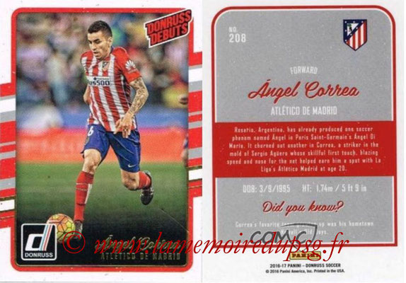 2016 - Panini Donruss Cards - N° 208 - Oliver TORRES (Atletico de Madrid) (Donruss Debuts)