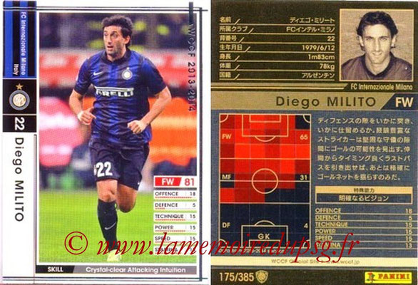 2013-14 - WCCF - N° 175 - Diego MILITO (Inter Milan)