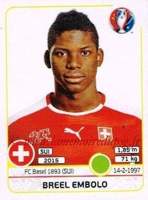 Panini Euro 2016 Stickers - N° 117 - Breel EMBOLO (Suisse)