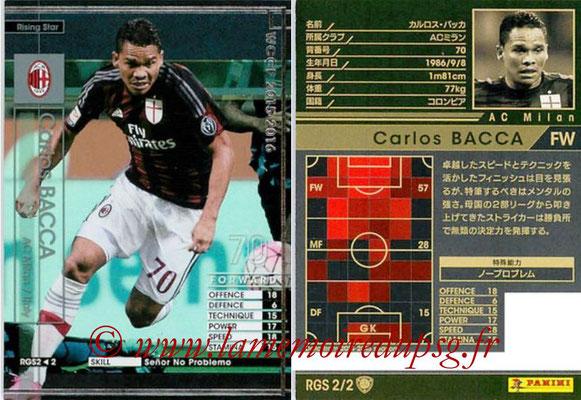 2015-16 - Panini WCCF - N° RGS2 - Carlos BACCA (Milan AC) (Rising Star)