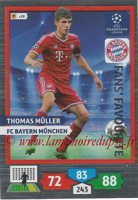 2013-14 - Adrenalyn XL champions League N° 295 - Thomas MULLER (FC Bayern de Munich) (Fans' Favourite)