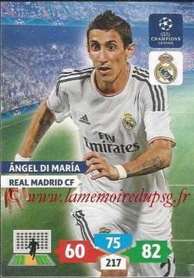 2013-14 - Adrenalyn XL champions League N° 241 - Angel DI MARIA (Real Madrid CF)
