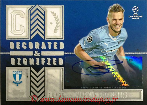 2015-16 - Topps UEFA Champions League Showcase Soccer - N° DDA-MR - Markus ROSENBERG (Malmö FF) (Decorated and Dignified Autographs)