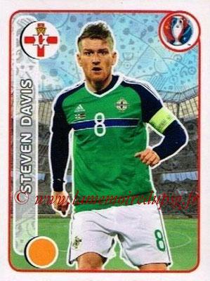 Panini Euro 2016 Stickers - N° 319 - Steven DAVIS (Irlande du Nord)