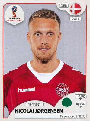 2018 - Panini FIFA World Cup Russia Stickers - N° 269 - Nicolai JORGENSEN (Danemark)