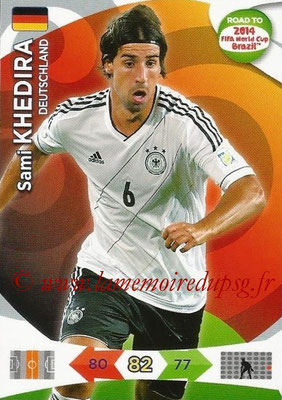 2014 - Panini Road to FIFA World Cup Brazil Adrenalyn XL - N° 051 - Sami KHEDIRA (Allemagne)