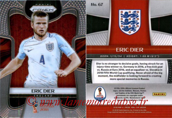 2018 - Panini Prizm FIFA World Cup Russia - N° 067 - Eric DIER (Angleterre)