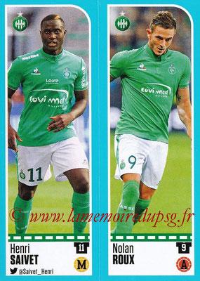 2016-17 - Panini Ligue 1 Stickers - N° 774 + 775 - Henri SAIVET + Nolan ROUX (Saint-Etienne)