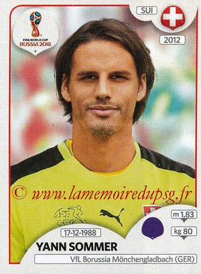 2018 - Panini FIFA World Cup Russia Stickers - N° 374 - Yann SOMMER (Suisse)