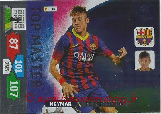 2013-14 - Adrenalyn XL champions League N° 353 - NEYMAR (FC Barcelone) (Top Master)